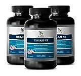 Male Enchantment Pills Increase Size and Length - TONGKAT ALI 200:1 PREMIUM EXTRACT 400mg - Tongkat Ali Supplement - 3 Bottles 180 Capsules
