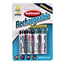 Hahnel High Capacity Rechargeable NiMH AA 2000mAh 4 pack