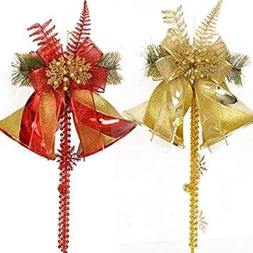 Zhudj Weihnachtsschmuck Grosse Bow Tie Ring Eingerichtete