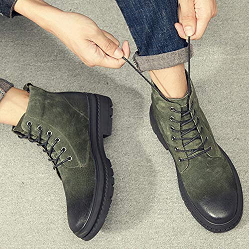 Retro Stivali Adulti Addensare Dr 39 Chelsea Classici Stivali Stivali Bang Martens Leather High Moda Green Boots Desert Pelle Classica Shoes Warm xIPtZZqwd