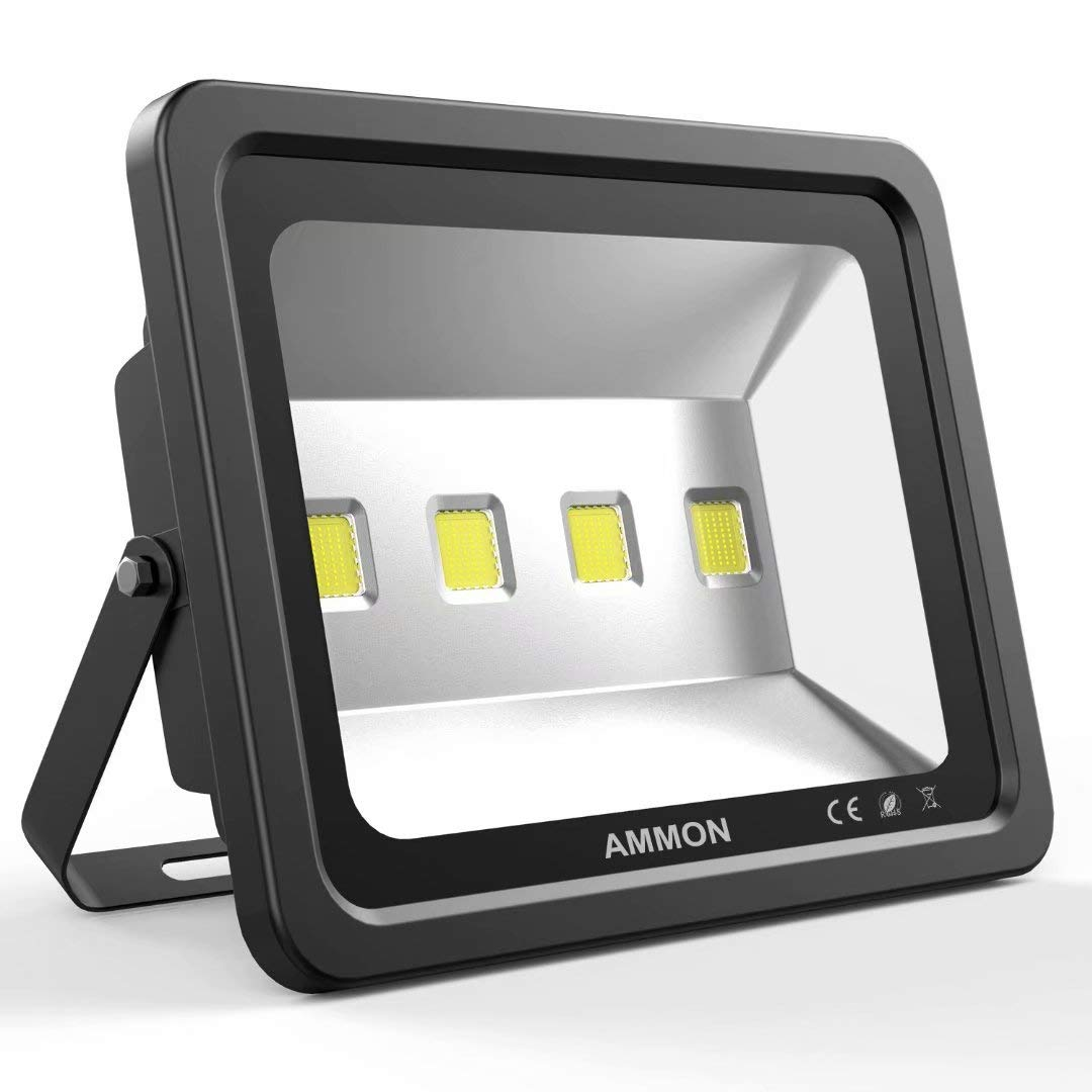 Ammon Led Flood Light 200w Outdoor Waterproof Ip65 20000lm Super Wiring Fixture Video Bright Lamp Cool White 6000k Spotlight Daylight For Garden Yard Party