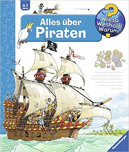 Andrea Erne (Autorin) / Peter Nieländer (Illustrator) - Alles über Piraten (Wieso? Weshalb? Warum? – Band 40)