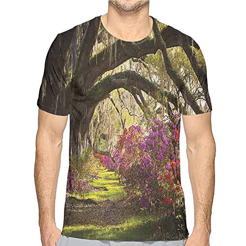 - t Shirt Printer Nature,Mystical Garden Flourishing Junior t Shirt XXL