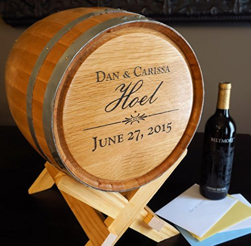 A Simpler Time 5 Gallon Personalized Wedding Barrel