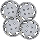 hyundai accent wheel center cap - Hubcaps for 13 inch Standard Steel Wheels (Pack of 4) Wheel Covers - Snap On, Silver