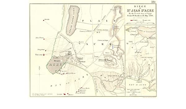Amazon com: SIEGE OF ST JEAN D'ACRE  French Army Egypt 1799
