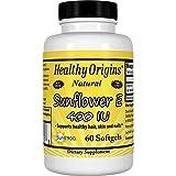 Healthy Origins Sunflower Vitamin E-400 IU, 60 Softgels