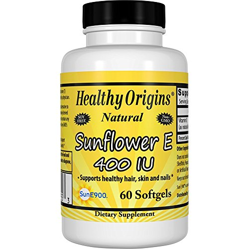 Healthy Origins Vitamin E - 400 Iu Sunflower Gels, 60 Count