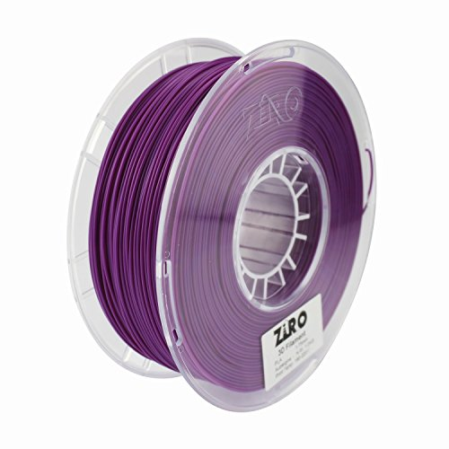 ZIRO 3D Printer Filament PLA 1.75 1KG(2.2lbs), Dimensional Accuracy +/- 0.05mm, - Aubergine Material