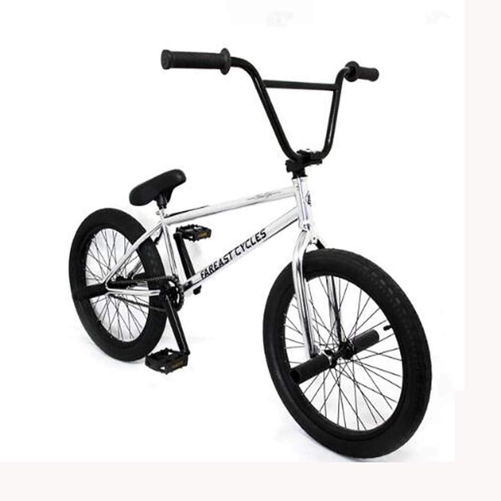 GASLIKE Bicicleta de BMX Freestyle de 20 Pulgadas con Ruedas para Ciclistas Principiantes a avanzados, Cuadro de Acero de Alto Carbono con Asiento de Freno extraíble