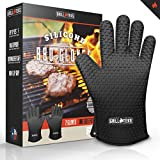 GrillTeks 2015 Heat Resistant Silicone Cooking Gloves ★ Made for Outdoor Grilling, but Perfect for Your Home Kitchen ★ Premium Grill Accessories & Oven Hot Gloves for Men & Women ★ Lifetime Guarantee