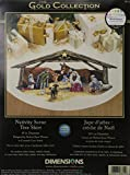 Dimensions Needlecrafts Counted Cross Stitch, Nativity Scene Tree Skirt