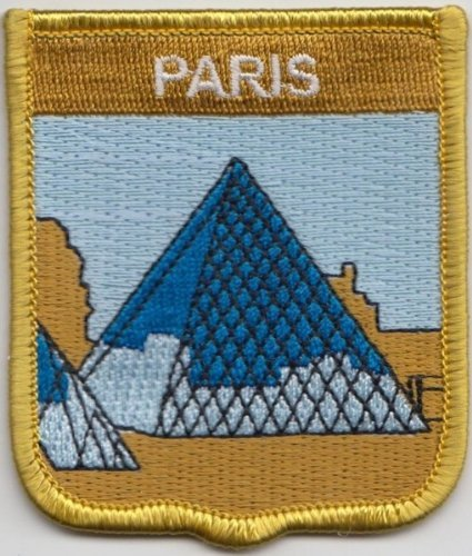 Paris Louvre Museum France Flag Embroidered Patch Badge