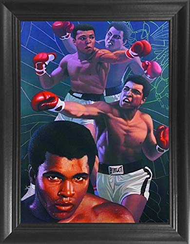 Muhammad Ali Framed 3D Lenticular Picture - 14.5x18.5 - Unbelievable Life Like Framed 3D Art Pictures, Lenticular Posters, Cool Art Deco, Unique Wall Art Decor, with Dozens to Choose ()