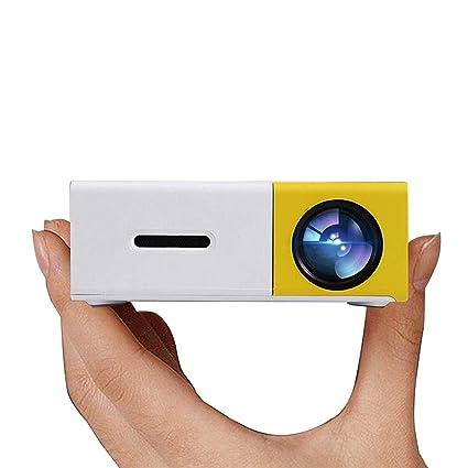 Guowy Proyector del Portable LED De Cine En Casa Conectarse A USB PC Portátil para La