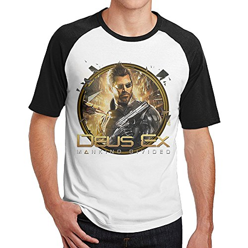 Deus Ex Mankind Divided Icon Fashionable Cotton Male Raglan Tshirt