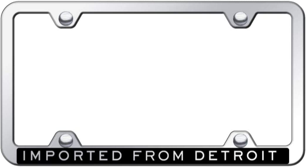 Chik yx Imported From Detroit Black License Plate Frame