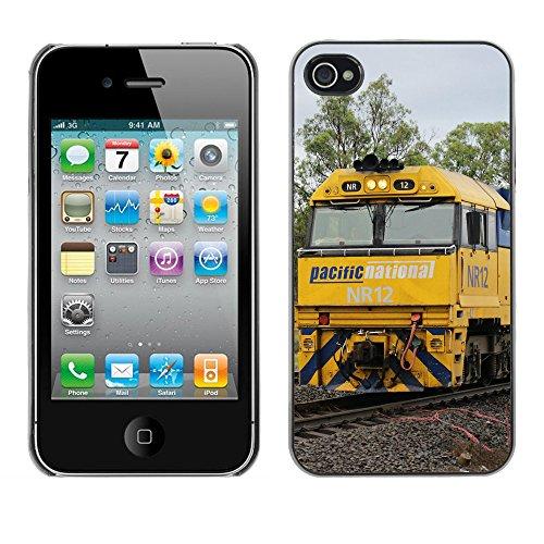 Premio Sottile Slim Cassa Custodia Case Cover Shell // F00024313 Train Massive // Apple iPhone 4 4S 4G