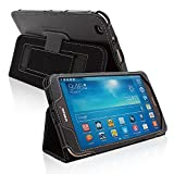 Snugg8482; Samsung Galaxy Tab 3 8.0 Tablet Case - Smart Cover with Flip Stand & (Black Leather) for Samsung Samsung Galaxy Tab 3 8.0