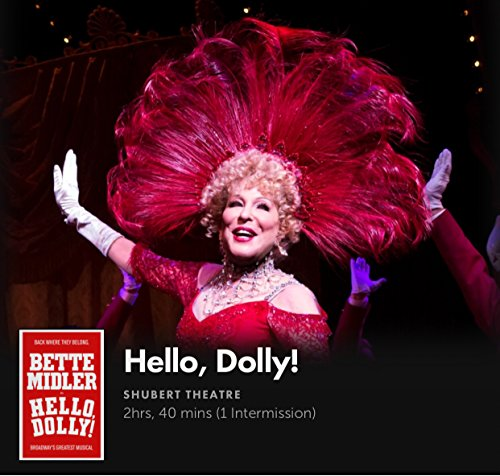 HELLO DOLLY! Bette MIDLER & David Hyde PIERCE Musical PLAYBILL BROADWAY NYC NEW YORK CITY Schubert Theatre Souvenir Theatre Play Bill Agenda 2017 Night Musical Pride Theatre Nov 2017 - On Stores Broadway Nyc