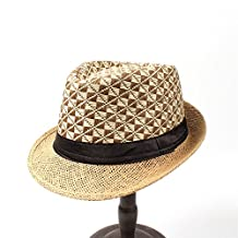 ZI LING SHOP- Toquilla Straw Women Men Summer For Gentleman Elegant Lady Seaside Homburg Sun hatGarland Sunbonnet Chapeau