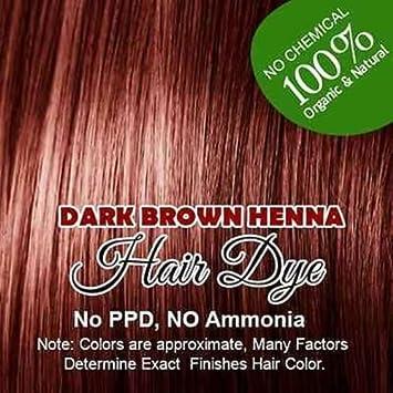 Amazon Com Dark Brown Henna Hair Color 100 Organic And
