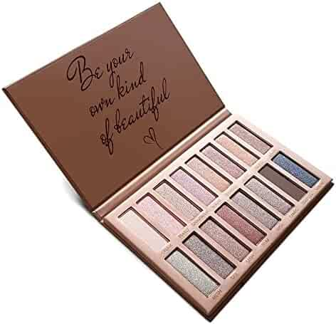Best Pro Eyeshadow Palette Makeup - Matte + Shimmer 16 Colors - High Pigmented - Professional Vegan Nudes Warm Natural Bronze Neutral Smokey Cosmetic Eye Shadows