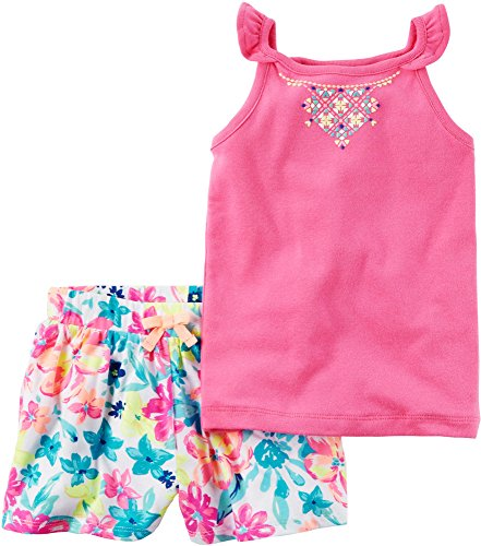 Carter's Carter's Girls 2 Pc Playwear Sets 259g418, Pink, 2T