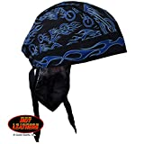 Hot-Leathers-Authentic-Bikers-Premium-Headwraps-NEW-FIRE-BIKE-High-Quality-Micro-Fiber-Mesh-Lining-HEADWRAP