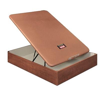 Canapé Abatible de madera al suelo - Naturbox Cerezo – Pikolin 140x200 cm