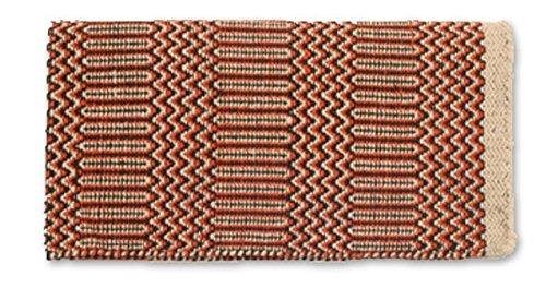 Mayatex Ramrod Doubleweave Saddle Blanket, Sand/Brown/Rust, 32 x 64-Inch