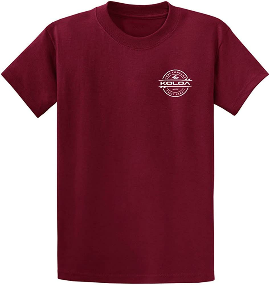 Big /& Tall Joes USA Koloa Thruster Surfboard Logo Heavy Cotton T-Shirts Regular