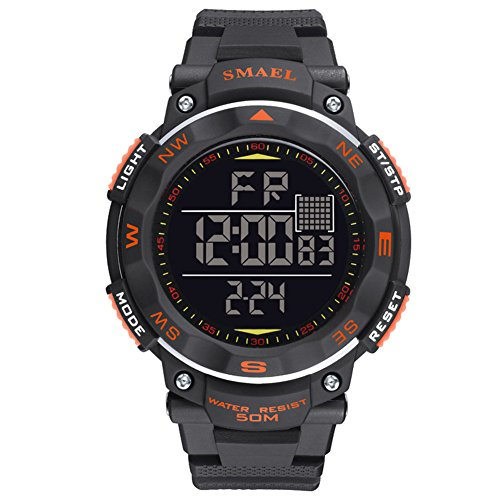 ETbotu Children LED Electronic Digital Luminous Multifunction PU Strap Waterproof Alarm Calendar watches by ETbotu (Image #7)