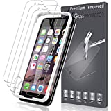 LK [3 Pack] Screen Protector for iPhone 6 Plus/iPhone 6S Plus, [Tempered Glass] DoubleDefence Technology [Alignment Frame Easy Installation] [3D Touch] with Lifetime Replacement Warranty
