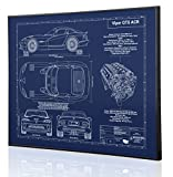Dodge Viper GTS Blueprint Artwork-Laser Marked & Personalized-The Perfect Dodge Gifts