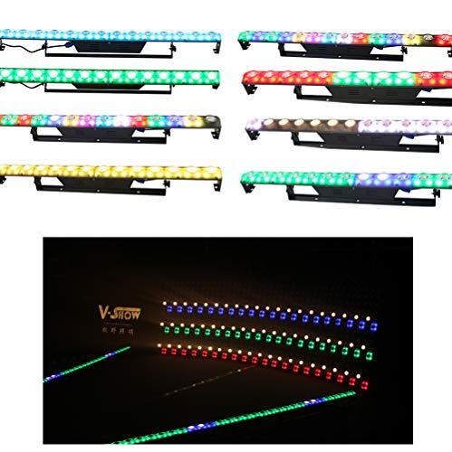 V-Show RGB - Barra de luz para interior lineal, 3000 K, luz blanca cálida, con DMX-512 y control individual