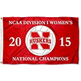 Nebraska Huskers 2015 Women's Volleyball Champs Flag