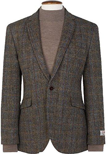 THE FINE SWINE Harris Tweed Coats (Mid-Brown Sumburgh, 38S) ()