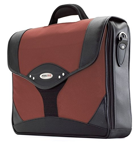 Mobile Edge 15.6''PC / 17'' MacBook Pro Select Computer Briefcase in Red (17' Brief Laptop Leather)