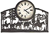 Horse Pack in Mountains Horizontal Outdoor Clock