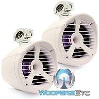 Memphis 15-MXA82TWS White 8 150 Watts RMS MXA Series Wakeboard Tower Marine Speakers