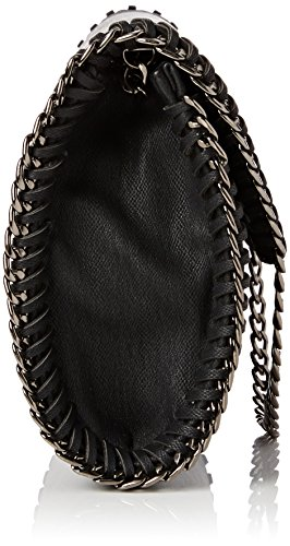 SwankySwansWinona Chain Faux Leather Clutch Bag Black - Sacchetto Donna Black (Black)