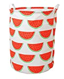 HIYAGON Large Laundry Basket Bag with Handle, Collapsible Watermelon Deal