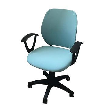 Funda para silla de oficina de ordenador JIAN YA NA, protectora y elástica, universal, funda giratoria para silla azul
