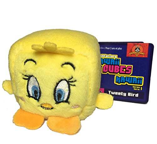 Wish Factory Kawaii Cube Warner Brothers: Tweety Bird Plush, Small Tweety Bird Plush