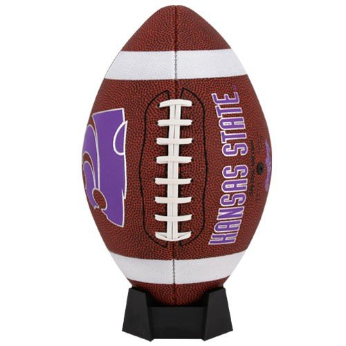 NCAA Game Time Full Size Football , Kansas State Wildcats, Brown, Full Size