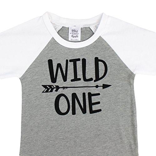 Olive Loves Apple Wild One 1st Birthday Shirt For Boys Wild One Baseball Tee Shirt For Boys 1st Birthday