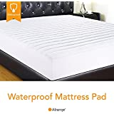 """Allrange Hypoallergenic Quilted Fitted Waterproof Mattress Pad, Stretch-up-to 16"""", Moisture Management, Stain Release, Snug Fit, Mattress Protector, Twin XL"""