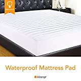 Allrange Clean&Safe Quilted Fitted Waterproof Mattress Pad, Stretch-up-to 16', Moisture Management, Snug Fit, Mattress Protector, Twin XL
