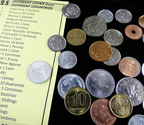 25 COINS FROM 25 DIFFERENT COUNTRIES - World Collection of 25 Uncirculated Coins - GREAT STARTER SET